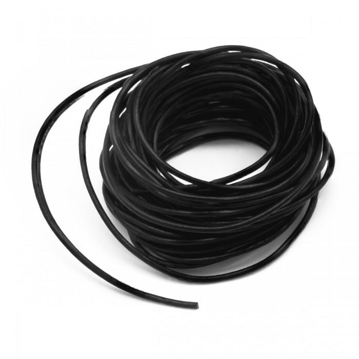 Шнур Натуральная Кожа, Цвет: Черный, Размер: Диаметр 1.5мм/ Упак.: 5 м
