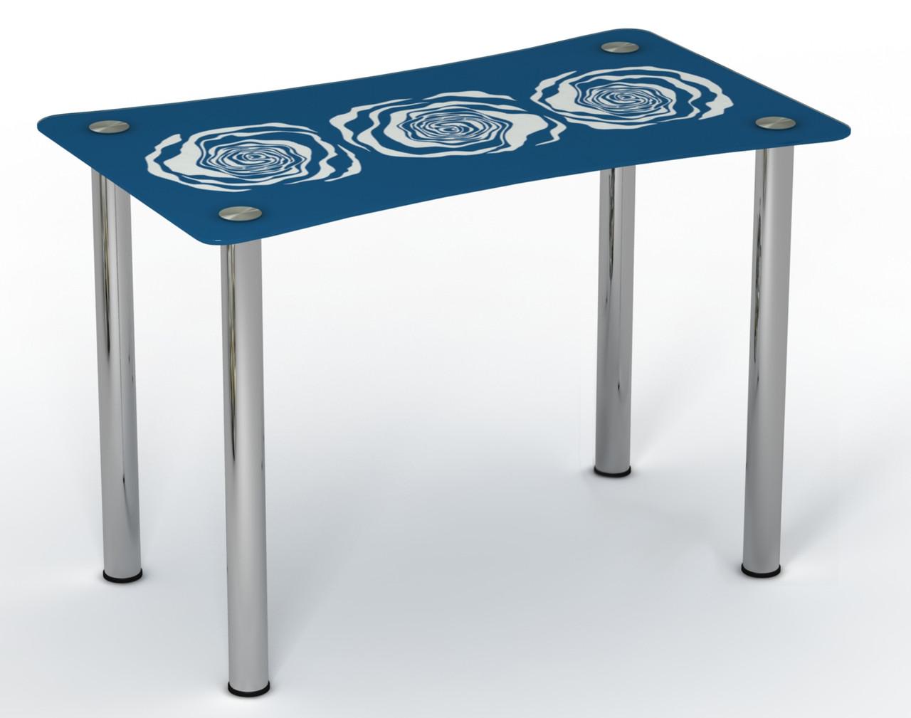 Стол однополочный на хромированных ножках Океан Ocean ТМ Sentenzo