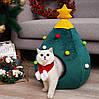 """Новогодний домик """"Елка"""" для кота, собачки. Оригинальный подарок на Новый Год любимому питомцу!"""