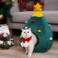 """Новогодний домик """"Елка"""" для кота, собачки. Оригинальный подарок на Новый Год любимому питомцу!, фото 1"""