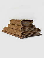 Махровое полотенце для лица, 50*90 см, Туркменистан, 430 гр\м2, бежевое