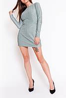 Нарядное платье-комбинезон бирюзового цвета 44