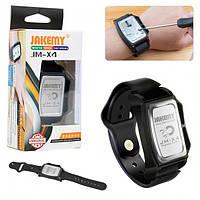 Магнитный браслет на руку для саморезов и мелких деталей Jakemy JM-X4 Pro Чёрный (JM-X4)