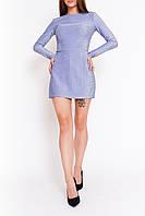 Нарядное платье-комбинезон голубого цвета