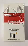 Мини парфюм в подарочной упаковке jeanmishel love In Red 45мл, фото 1