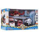 Набор игрушечных машинок пожарная полиция скорая вертолет, фото 2