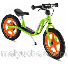 Детский беговел с пневматическими шинами и тормозом Puky LR 1 L Br 4031 Kiwi/Orange