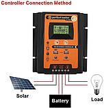 PVSC50A 50А 12/24В MPPT  Контроллер заряда солнечных батарей (модулей) с Дисплеем + 2USB Контрлер заряду, фото 3