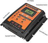 PVSC50A 50А 12/24В MPPT  Контроллер заряда солнечных батарей (модулей) с Дисплеем + 2USB Контрлер заряду, фото 5