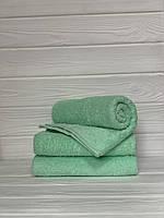 Махровое полотенце для лица, Туркменистан, 430 гр\м2, бирюзовое светлый, 50*90 см