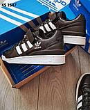 Мужские кроссовки Adidas Forum Mid (черно/белые), фото 5