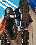 Мужские кроссовки Adidas Forum Mid (черно/белые), фото 6
