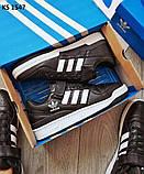 Мужские кроссовки Adidas Forum Mid (черно/белые), фото 7