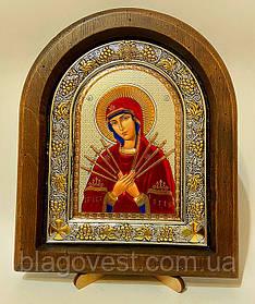Ікона на дереві під старовину з золотом Таємна вечеря (210х280мм) Ш
