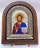 Икона на дереве Византикос полуоклад 160х190 цветные одежды, фото 2