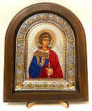 Икона на дереве Византикос полуоклад 160х190 цветные одежды, фото 3