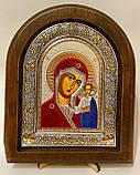 Икона на дереве Византикос полуоклад 160х190 цветные одежды, фото 5