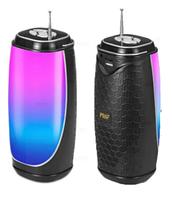 Колонка со светомузыкой, USB, SD, FM, Bluetooth, 1-динамиком и антенной MF-206