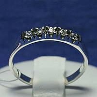 Тонкое серебряное кольцо с цирконием 1907, фото 1