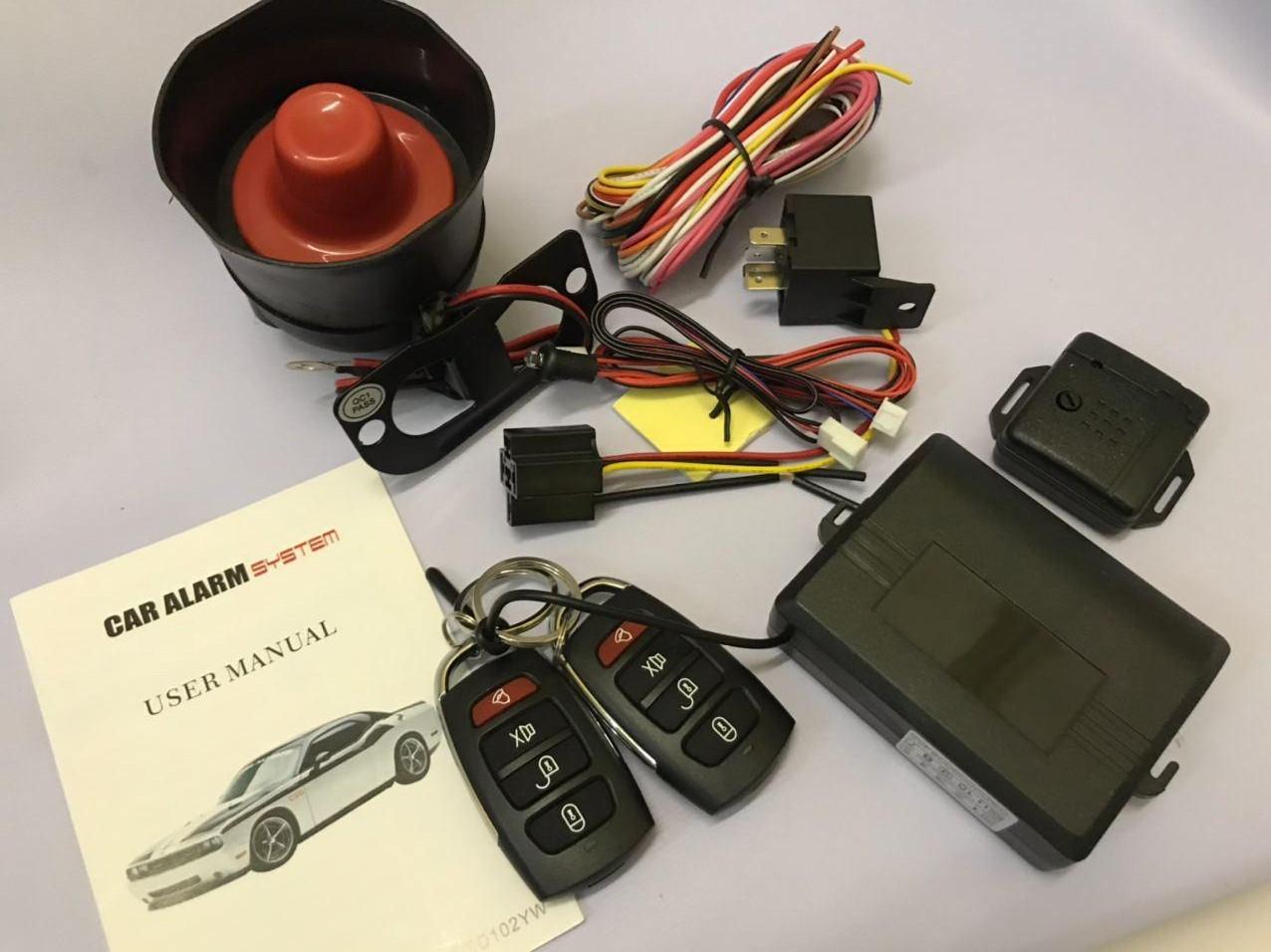 Автосигнализация односторонняя c сиреной CAR ALARM SYSTEM CZ001