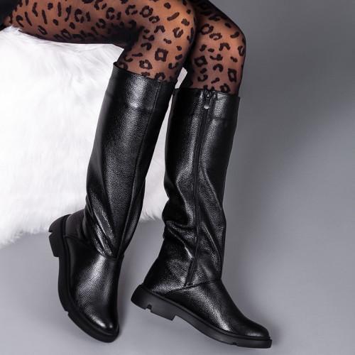 Сапоги женские кожаные на удобной подошве. Цвет кожи на выбор