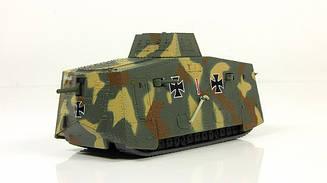 Танки Мира. Коллекция №9 Немецкий танк A7V   Модель коллекционная в масштабе 1:72   Арсенал-Коллекция