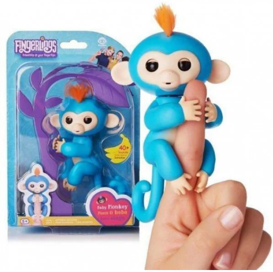 Обезьянка интерактивная на палец Happy Monkey Fingerlings