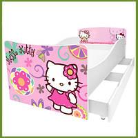 """Кровать серии """"Киндер"""" для девочки HELLO KITTY"""