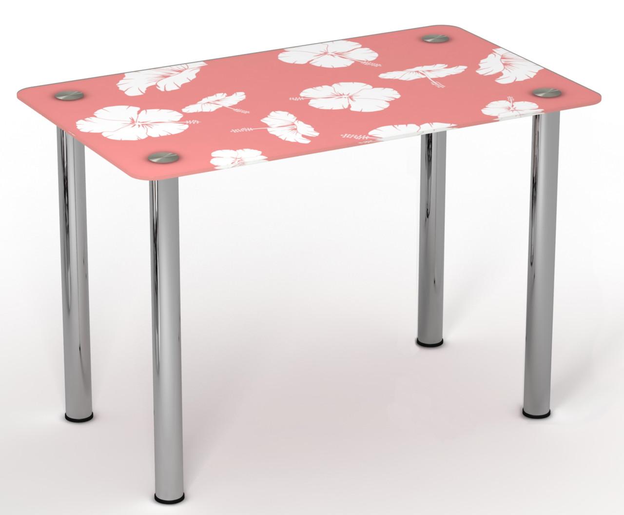 Стол однополочный на хромированных ножках Нежность ТМ Sentenzo
