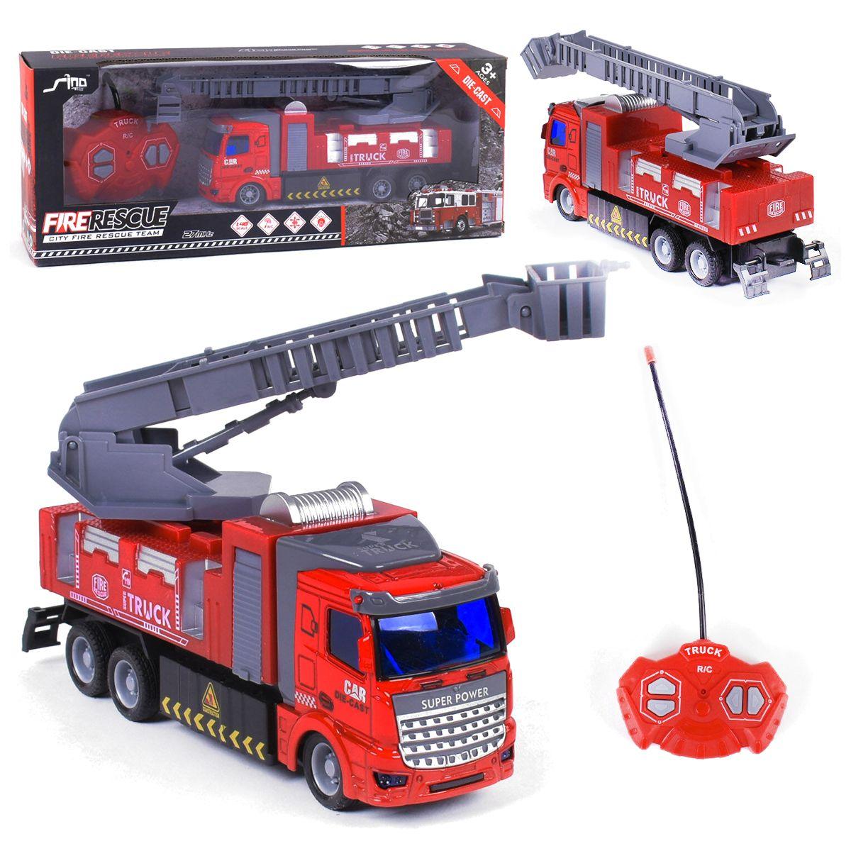 Пожарная машина на радиоуправлении со стрелой
