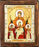 "Икона под старину ""Византикос"" (16,5х19,5см), фото 3"