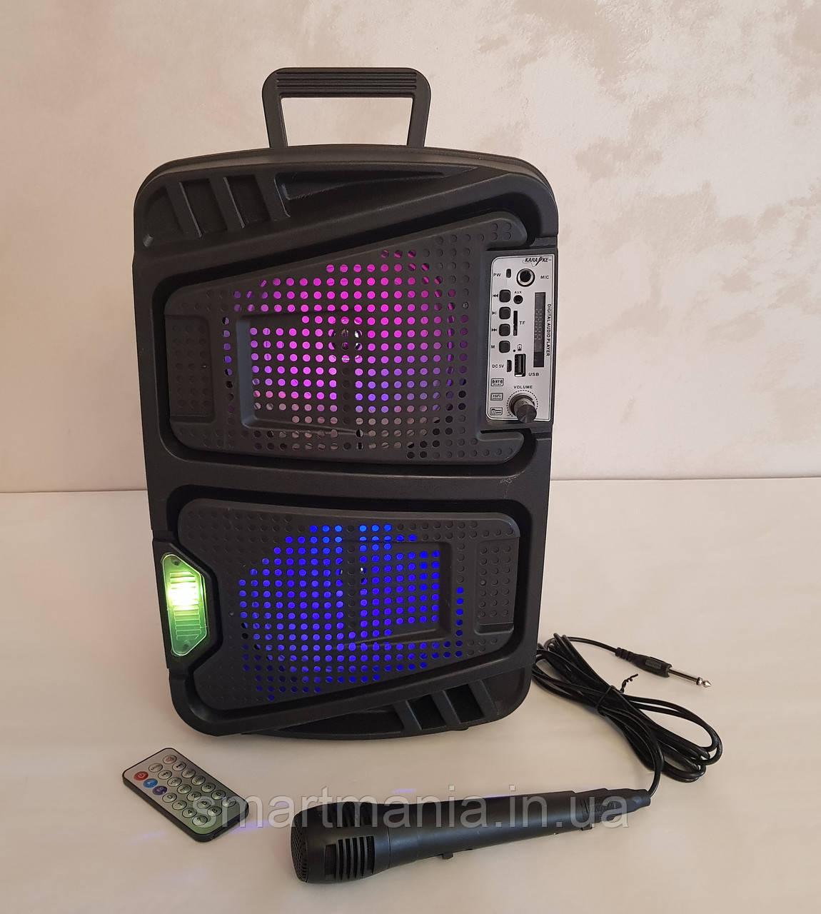 Колонка портативная акустическая  Kimiso QS-6565 с микрофоном (USB/BT/FM)
