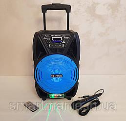 Колонка портативная акустическая  Kimiso QS-821 с микрофоном (USB/BT/FM)
