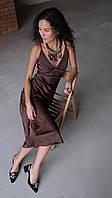 Платье- комбинация шоколад, фото 1