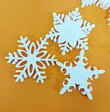 Снежинки из пенопласта 10 см. Новогодние игрушки и украшения, фото 2