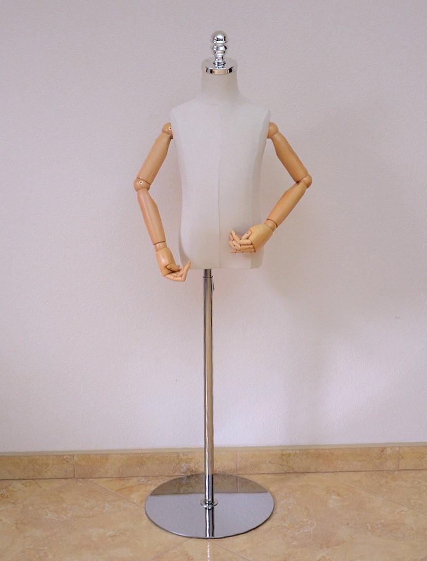 Манекен детский с деревянными руками на шарнирах
