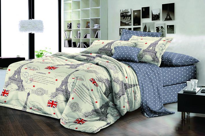 Постільна білизна двоспальне 180*220 бавовна (15935) TM KRISPOL Україна, фото 2