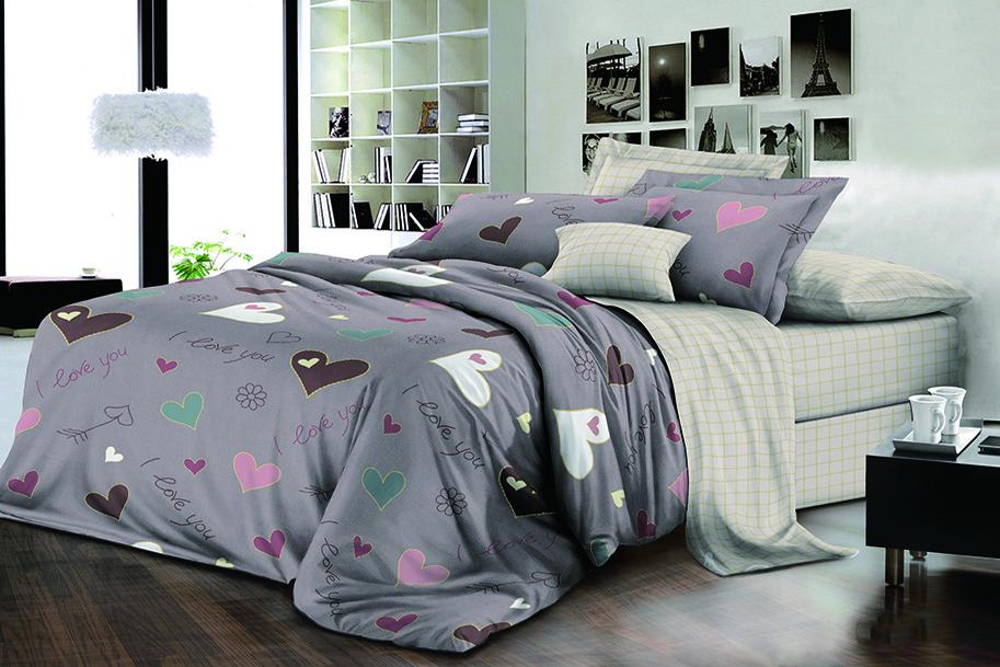 Двуспальный комплект постельного белья евро 200*220 хлопок  (15943) TM KRISPOL Украина