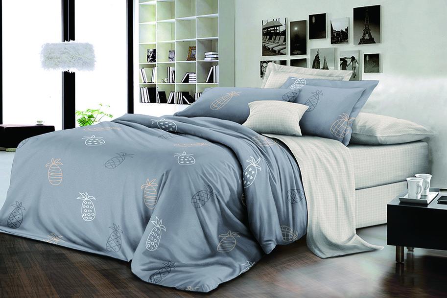 Двуспальный комплект постельного белья евро 200*220 хлопок  (15945) TM KRISPOL Украина