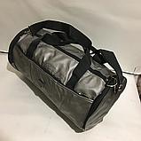 Спортивные большие сумки из эко кожи (СЕРЕБРО)24х46см, фото 3
