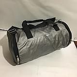Спортивные большие сумки из эко кожи (СЕРЕБРО)24х46см, фото 2