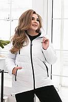 Куртка теплая, полубатал, арт.300, белая