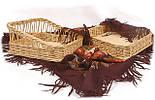 Лоток плетеный из лозы с высотой борта 8см