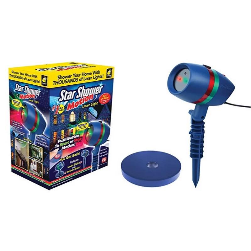 Уличный лазерный проектор Star Shower Motion праздничное освещение, диско проектор