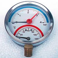 Термоманометр 4 бар 120*С