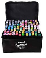 Набор скетч маркеров 96 цветов двухсторонних, скошенный -круглый кончик в сумке ST-8024