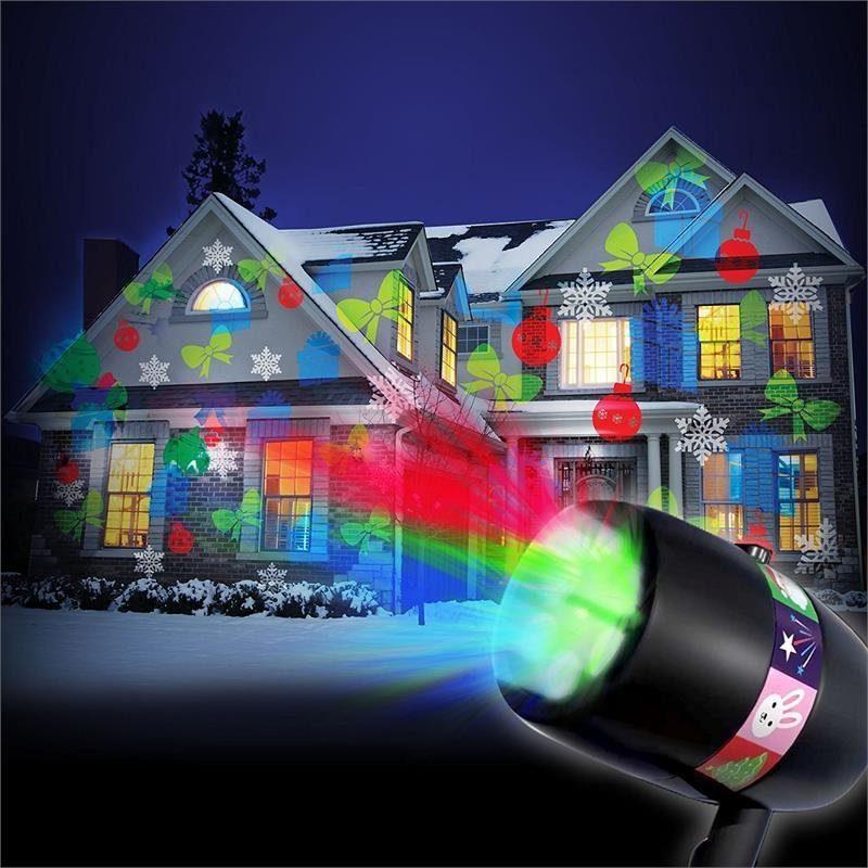 Уличный лазерный проектор Star Shower Slide Show 12 слайдов праздничное освещение, диско проектор