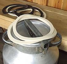 Гумова прокладка молочного бідона (20,25,38,40 л.) Світла харчова .