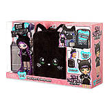 Набор Na Na Na Surprise Рюкзачок-кошечка / Na Na Na Surprise Backpack Bedroom Playset Black Fuzzy Kitty, фото 7