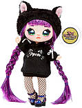 Набор Na Na Na Surprise Рюкзачок-кошечка / Na Na Na Surprise Backpack Bedroom Playset Black Fuzzy Kitty, фото 5